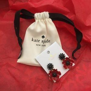 KATE SPADE NEW YORK Precious Poppies earrings NWT